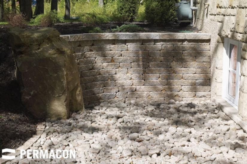 Country-style stone wall