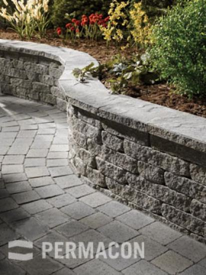 Country-style stone wall along an inviting path