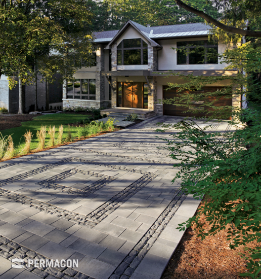 The perfect fusion of classic and modern pavers for an extraordinary driveway