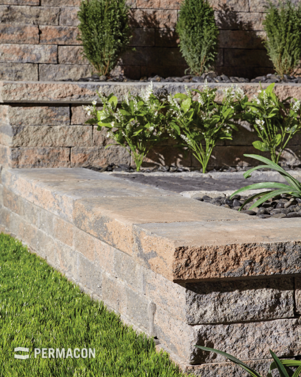 A coping that adds a stylish touch to your flowerbeds