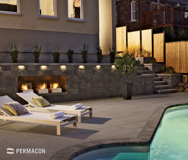 A wall that creates intimacy in your backyard