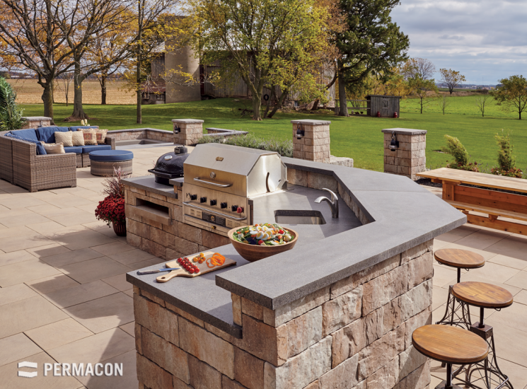 Create a welcoming and functional barbecue corner