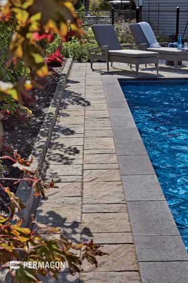 Dress up your poolside with an adapted coping