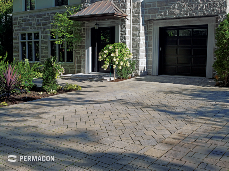 Elegant selection of pavers for this driveway