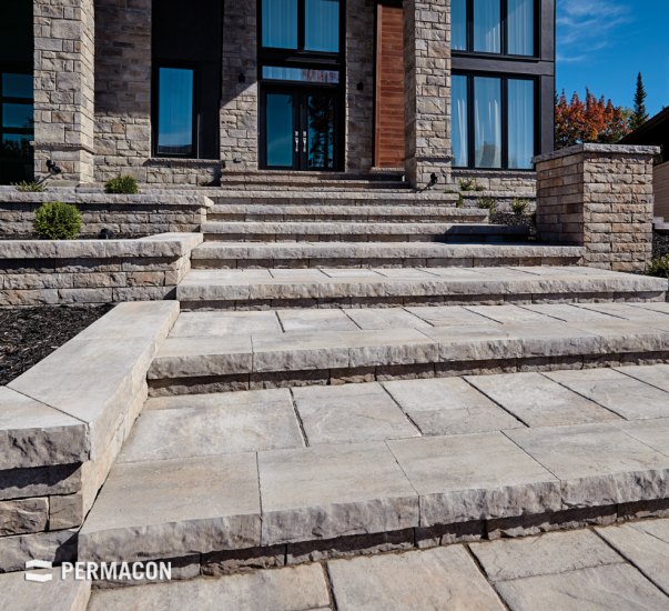 Harmonious accord of stone and aesthetic landscaping