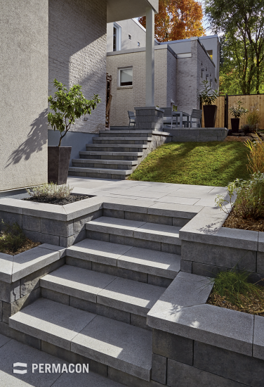 Harmonize your steps and copings to give your outdoor projects more elegance