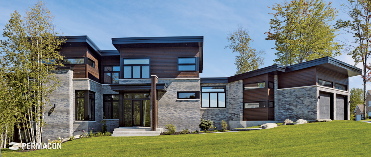 Home exterior cladding in a fashionable combination