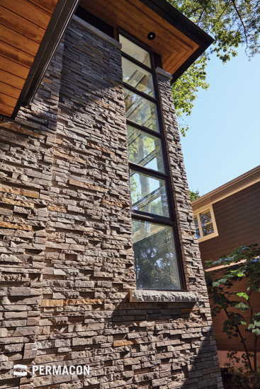Innovative stone texture that beautifies the fenestration