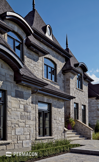 Majestic home with stone cladding