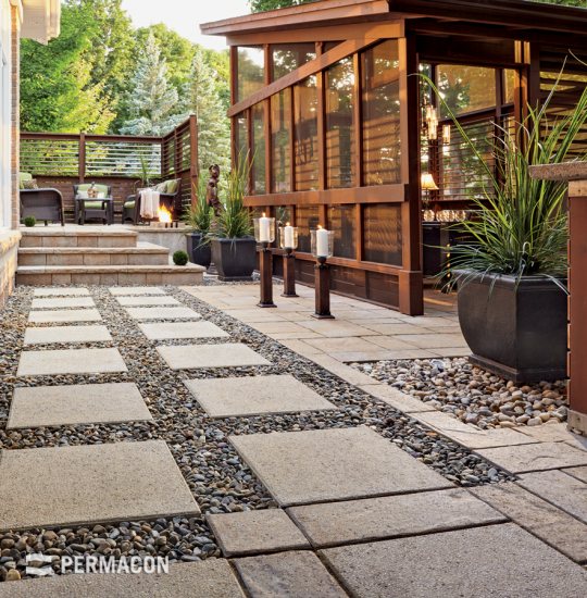 Marriage of textures for a Zen outdoor space