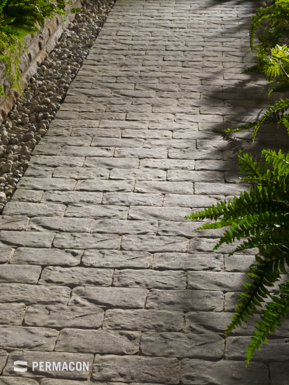 Path made of pavers with an old-time look