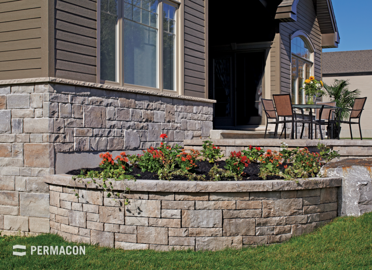 Perfect harmony between stone and retaining wall