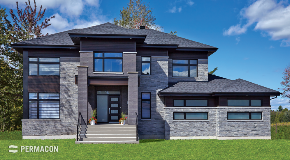 Stone and brick for a distinguished look