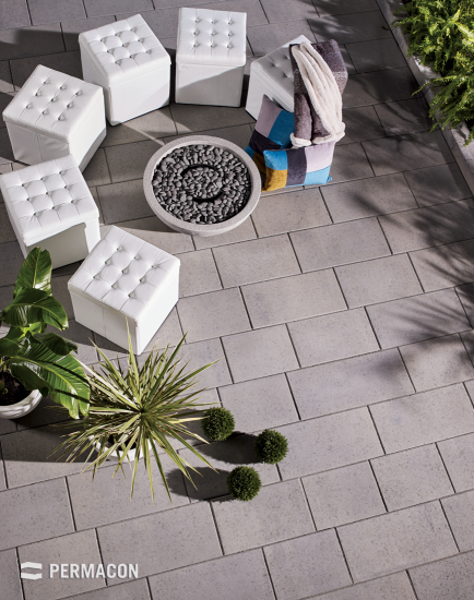 The ideal slabs for a streamlined modern patio