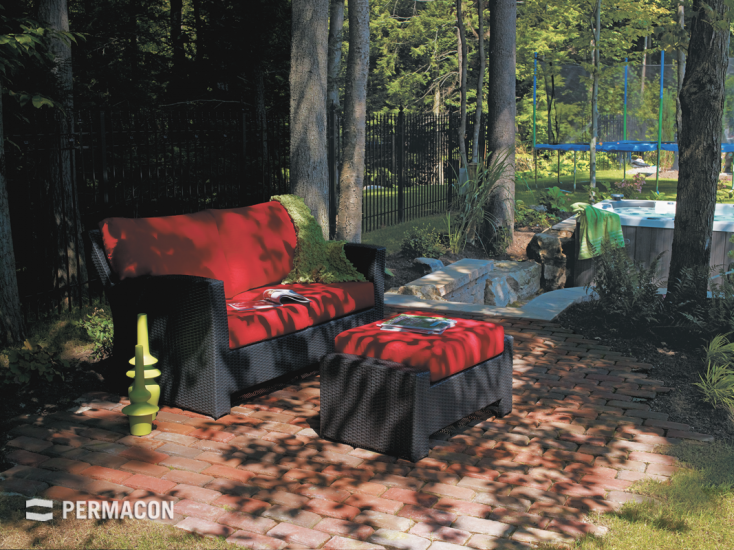This paver is ideal for creating a rustic environment in your backyard