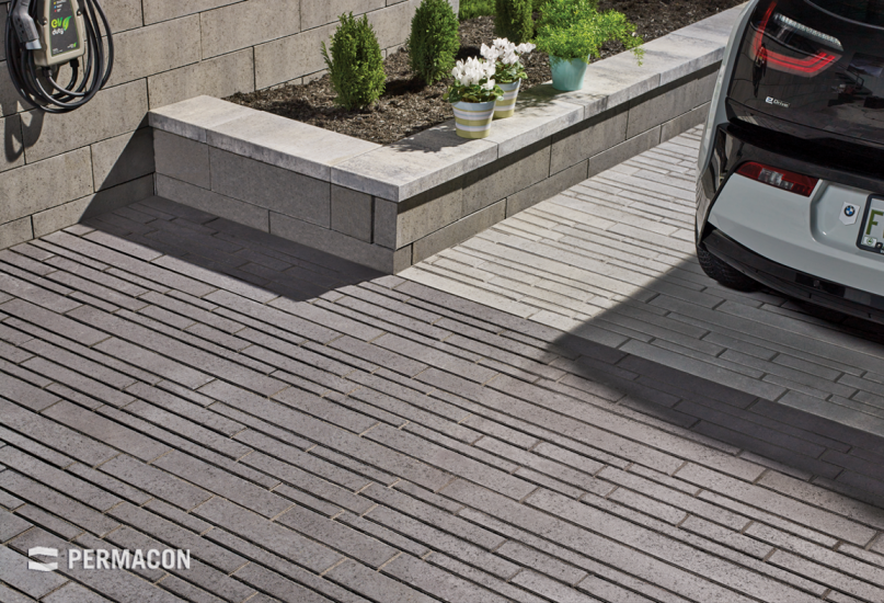 This uniquely designed paver gives your driveway a contemporary look