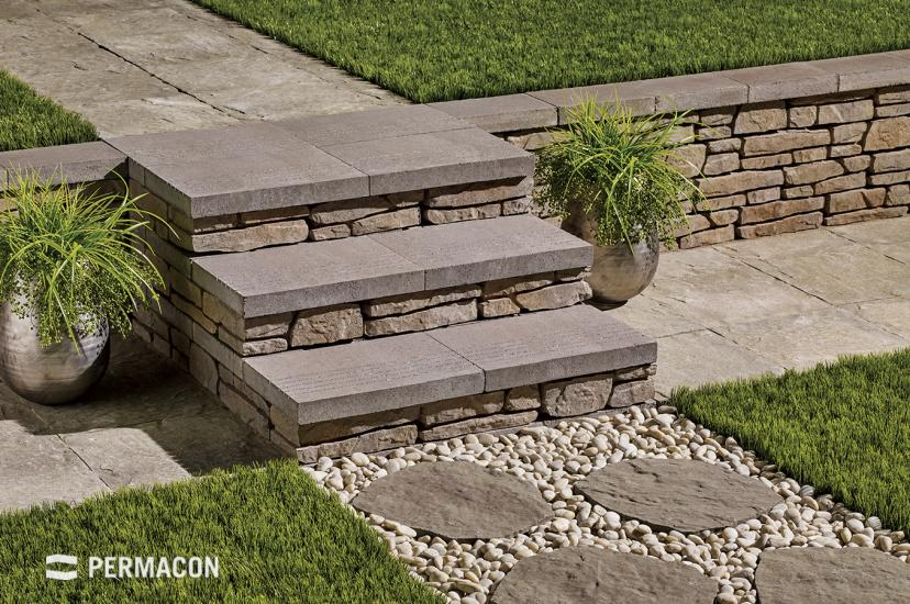 An exterior step giving a professional look to any stair project