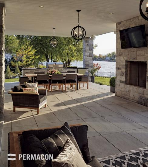 Patio with an open porch